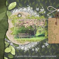 Contentment in a beloved garden