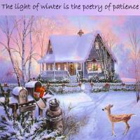 A Cottage In the Snow_Winter Quote