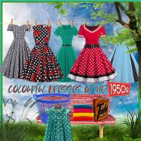 Colourful Dresses Of the 1950 ties