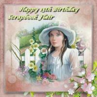 Happy Bday Scrapbook Flair