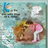 K for Kiss - of a child