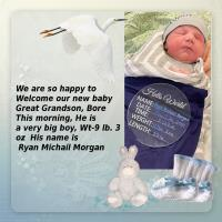 Welcome New Great Grandson