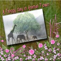A FOGGY DAY IN ANIMAL TOWN