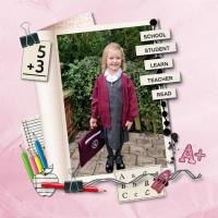FIRST DAY AT SCHOOL BELLA